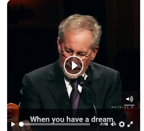 Spielberg volgde zijn droom: listen for the whisper